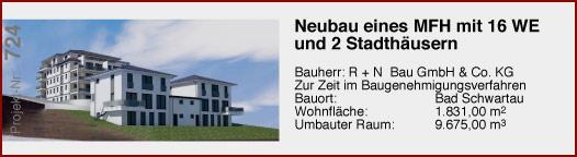 Neubau eine MFH mit 16 WE und zwei Stadthäusern