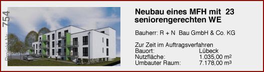 Neubau eines Mehrfamilienhauses mit 23 seniorengerechten Wohneinheiten
