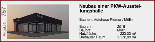 Neubau einer PKW Ausstellungshalle